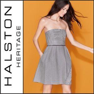 NWT ( Halston Heritage ) Striped Cocktail Dress